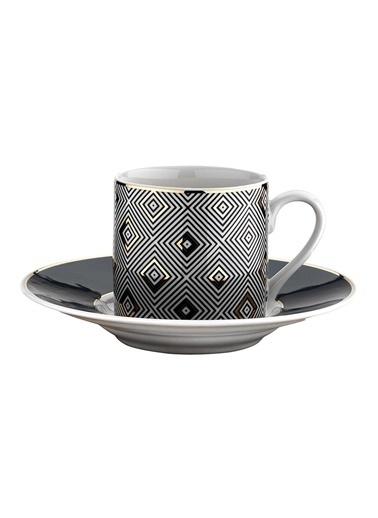 Kütahya Porselen Rüya 7750 Desen Kahve Fincan Takımı Renkli